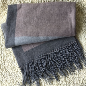 Home Textile Anti-Pilling 80% Acrylic 20% Wool Coffee CheapHeavy Wool Bed Blanket