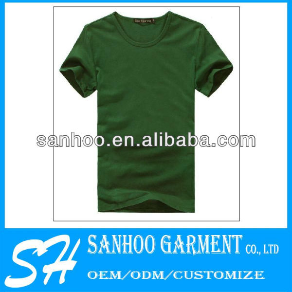 100% Cotton Blank Tee Shirts For Customized Design