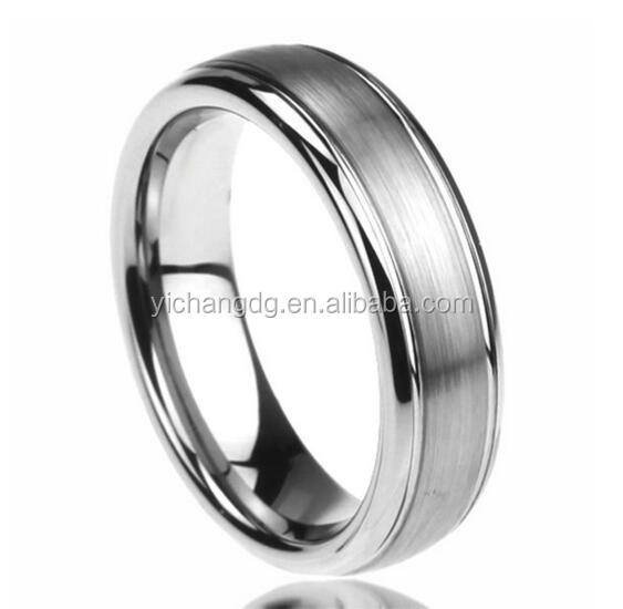 6MM Stainless Steel Wedding Band Ring Brushed Center Domed Classy