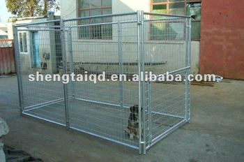 the 5'x10'x6' metal dog kennel