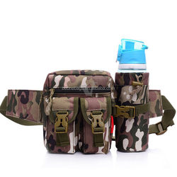 New Tactical Waist Pack Pouch Military Camping Hiking Outdoor Bag Belt Bag with bottle