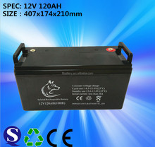 12.8V 120Ah Gel sealed lead acid replacement battery New