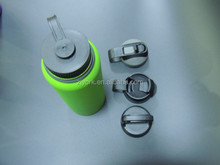 Green powder coating 4 exchageble cap 40oz hydro flask stainless steel drinking thermos bottle