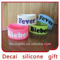 2013 High quality hot sale hip hop bracelet rubber