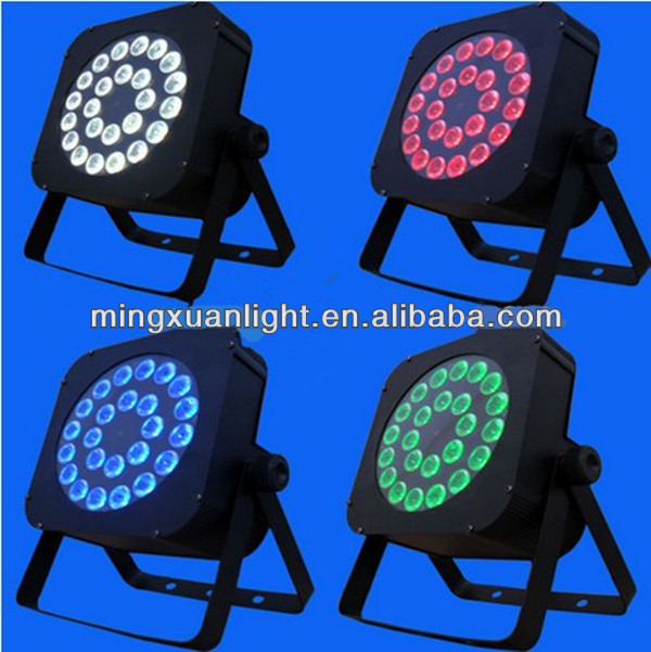 24*10w 4in1 full color RGBW led flat par light outdoor rotating