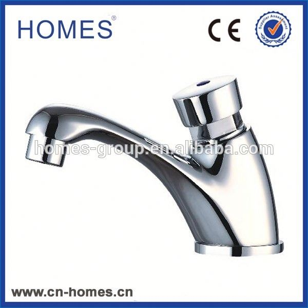 All brass chrome plated push type saving water auto stop time delay faucet