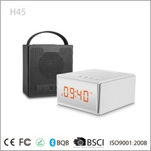 Smart App Control Home Theater 8Watt Wireless Portable Led Clock Bluetooth Speaker With FM Radio