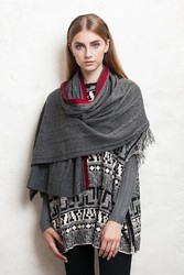 stock winter wear wool shawl with good price with high quality