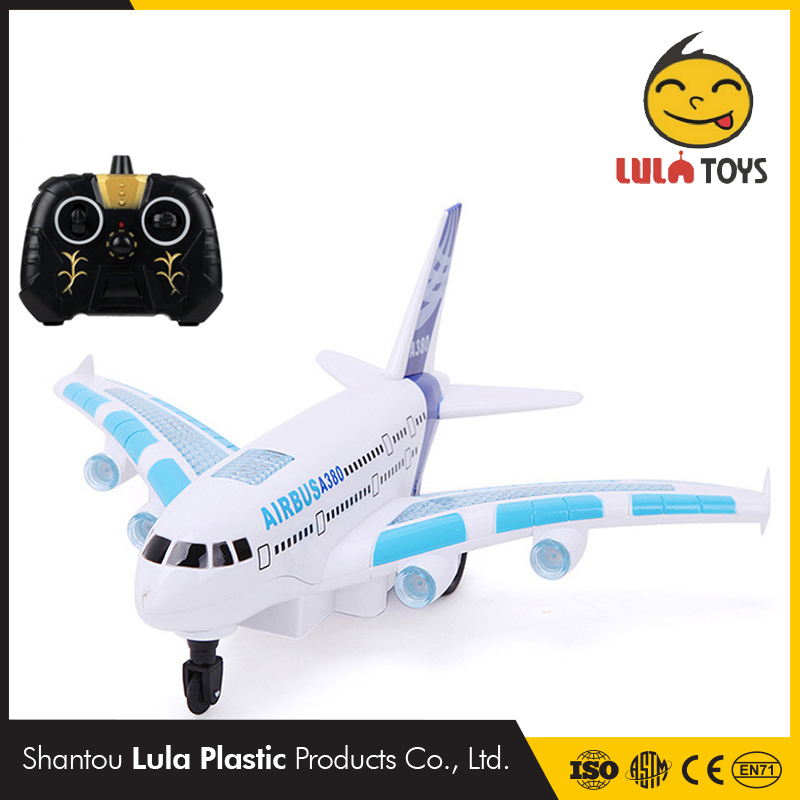 Light Music Universal Airbus A380 Self Control Plane Model Sound Electric Airplane Children Kids Toys Gifts Toy Glider RC Plane