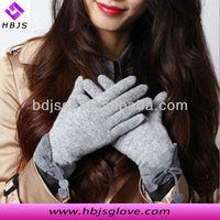 2013 new arrival winter and autumn fashion warm women gray bowknot touch screen woolen gloves