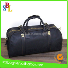 OEM Men's High End Vintage Real Leather Travel Duffle Bag for Clothes Storage