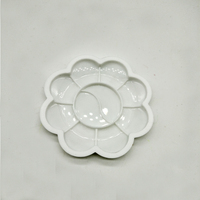 Wholesale Art Material Color Palette, 15*15cm Size Flower Shaper Plastic Wastercolor Paint Palette