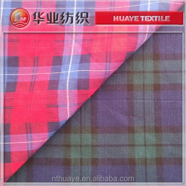 yarn dyed slub linen cotton gingham fabric from fabric mills china
