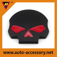 Skull auto sticker 3D chrome custom skull car emblem