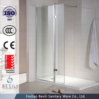Australian standard Free combination style Tempered glass shower screen T3