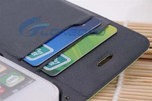High Quality Special Football pattern Flip PU Leather case for iphone5