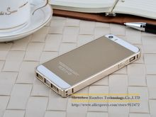 Luxury Champagne Metal Gold Aluminum Bumper Frame for iPhone 5 5S