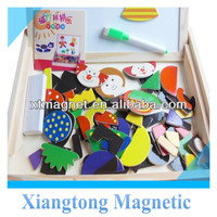 Animal Magnetic Jigsaw Puzzle Wooden for Children Two Sides Multifunction Writing Drawing Board Blackboard