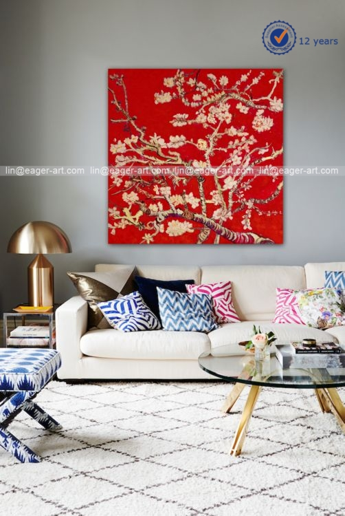 New Design Unique Modern Wall Decorative Canvas Abstract Flower Oil Painting Art
