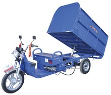 Three Wheels electric small Cargo tricycle Sanitation truck with 1500W motor