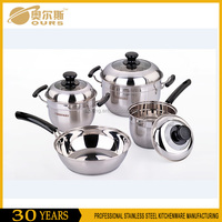 Wholesale Factory Price 7pcs 304 Stainless Steel Cookware Set