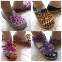 hmong shoes / shoes from hmong fabric