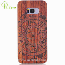 Bar design bamboo wood phone case mobile phone cover for samsung galaxy s8
