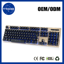 Professional Aluminum Alloy Keyboard Soft Key Keyboard Led Illuminated Backlit Office Gaming Keyboard