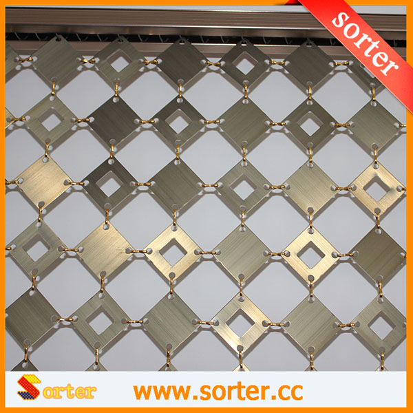 New design metal panels link curtain wall covering drapery