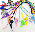 2 in 1 nylon ribbon rope mobile phone neck straps keychain finger lanyard detachable straps recreational machines straps
