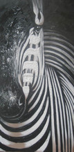 Black and White paintings of Zebra High quality pure hand-painted wall decor zebra oil painting