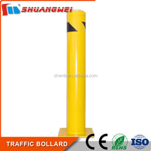 Outdoor Traffic Roadway Safety Yellow/black strip 1044mm steel pipe bollards