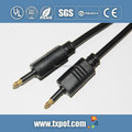 mini 3.5mm Toslink to Toslink audio cable injection molding shell gold-plated core