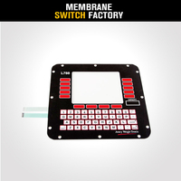 QWERTY micro keyboard membrane whole number keypad big size membrane switch