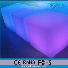 RGB color changing battery operated led mood light acrylic cube table