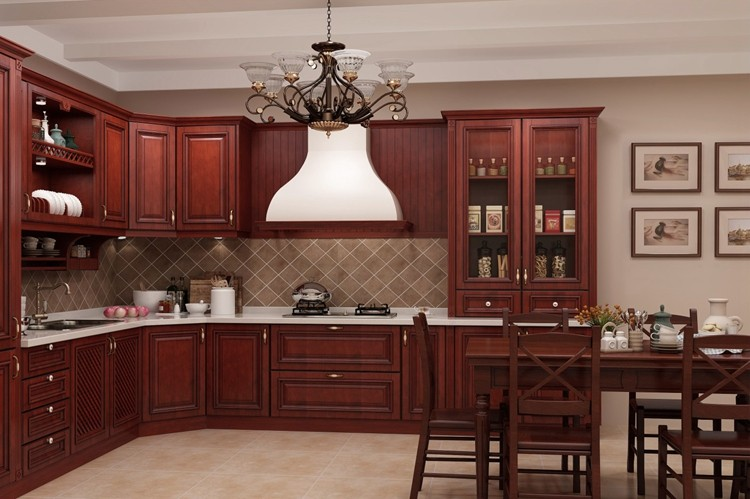 Free standing furniture antique solid wood kitchen cabinet for Antique free standing kitchen cabinets