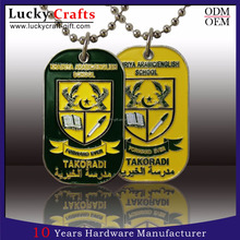 Promotional cheap custom military dog tag for men for free sample