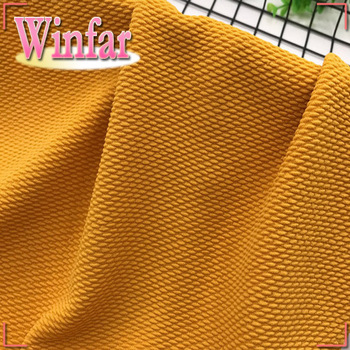 Winfar Textile Double jersey Solid Color Spandex Polyester knitted Jacquard Fabric