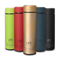 17oz Matte Surface Double Walled Vacuum Insulated stainless steel Water Bottles Travel flask with Tea Filter hot sell