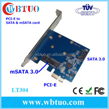 Hi speed PCI-E to 1P mSATA or 1P SATA COMBO adapter card