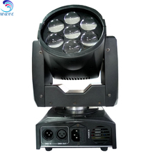 Guangzhou hotest led 7pcs rgbw 12w led linear zoom moving head light