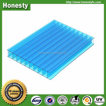 Polycarbonate solar panels / 10 mm hollow flat roof greenhouse