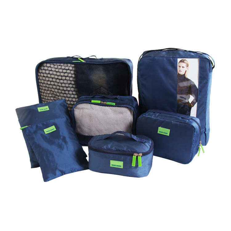 High quality 7 pcs set waterproof luggage packing cubes <strong>travel</strong> packing cubes for <strong>traveling</strong>