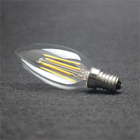 100PCS/LOT c35 e14 filament lamp led bulb Dimmable led bulb dhl free shipping