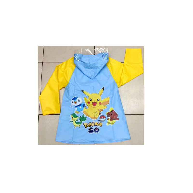 Foldable fashionable portable raincoat for kids fashion pvc raincoat With a place school bags
