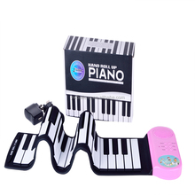 Educational Toy Foldable 49 Keys Piano Soft Portable Roll Piano Keyboard