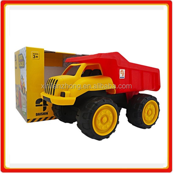 plastic friction powered kids toy big truck