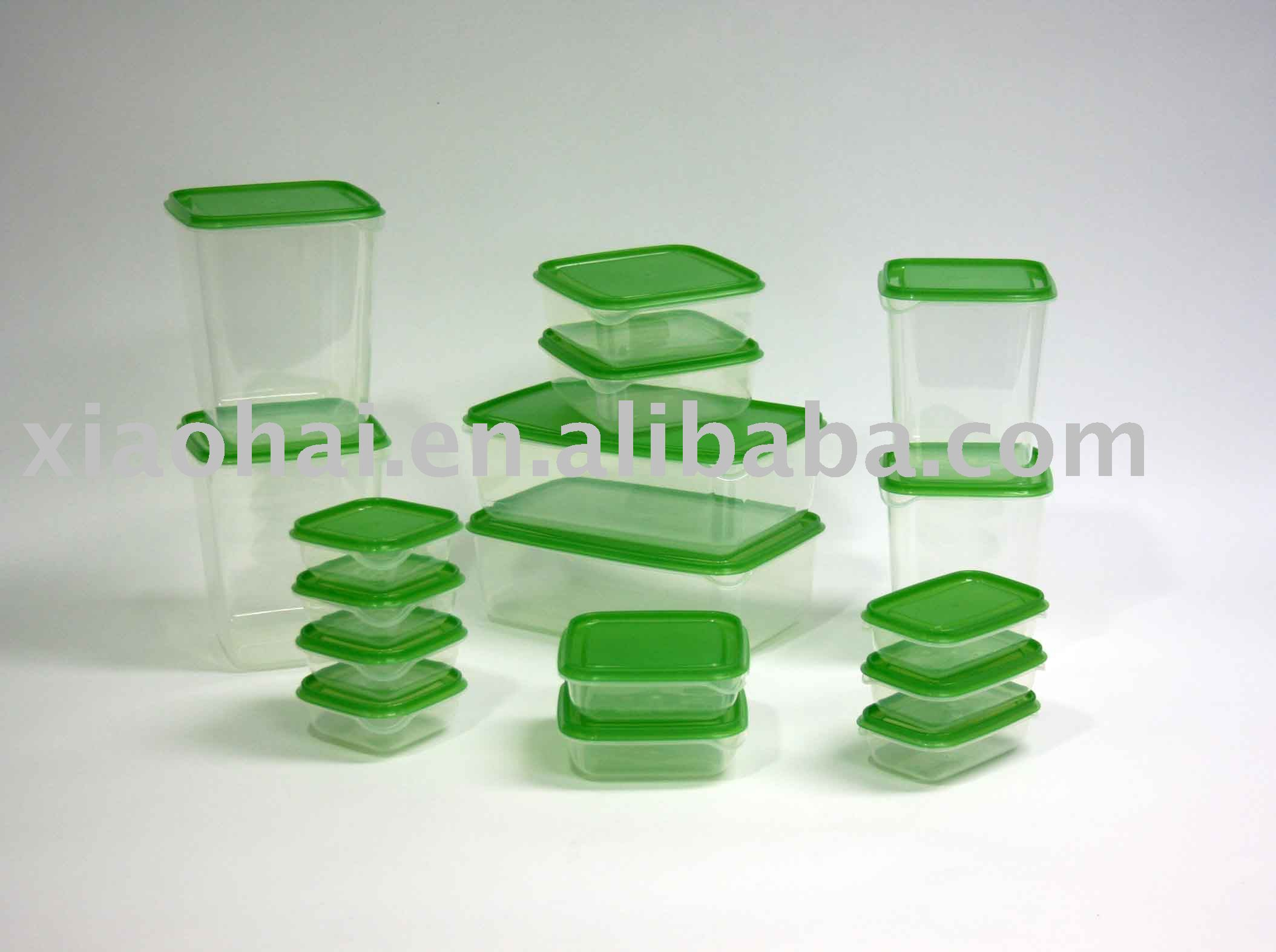 34pcs food container set/food container keep fresh green