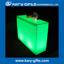 Remote control Rechargeable glowing Illuminated glass table led bar counter