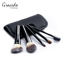 Latest selling makeup brush set Best price of make up 5pcs with black bag makeup brushes